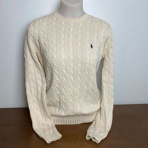 Ralph Lauren | Cotton Cable Knit Fitted Sweater